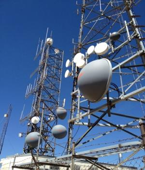 Collocated antennas on towers